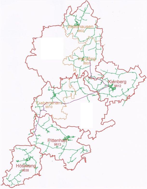 Karte des Verbandsgebiets